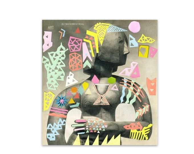 Collage Girl weatherproof sticker