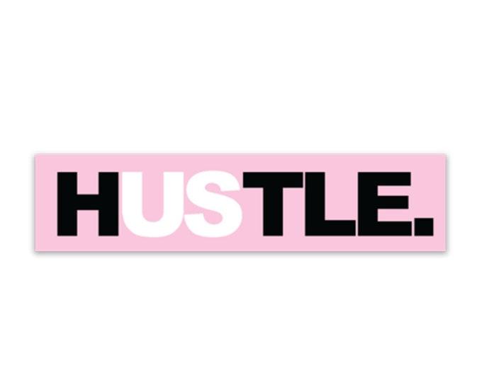 Hustle weatherproof sticker