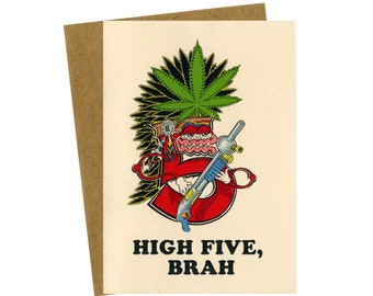 High Five greeting card