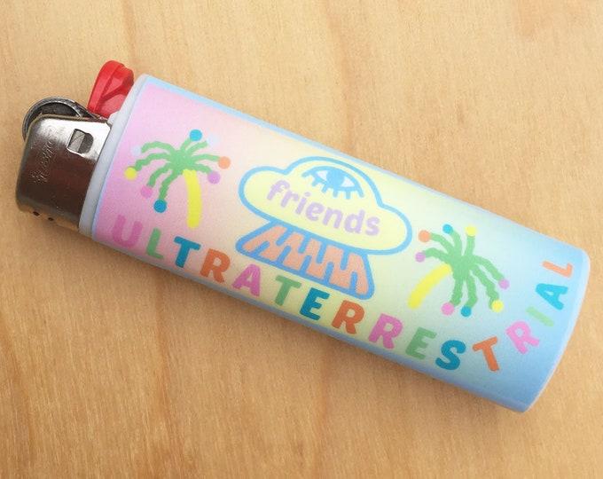 Ultraterrestrial Friends Lighter Sticker