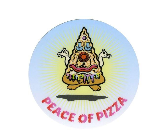 Peace of Pizza weatherproof sticker