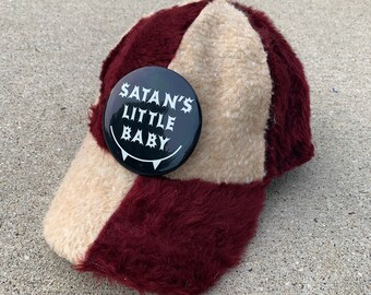 OOAK Maroon Satan's Lil Baby Fuzzy Hat