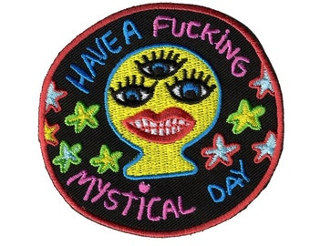 Mystical Day iron on embroidered patch