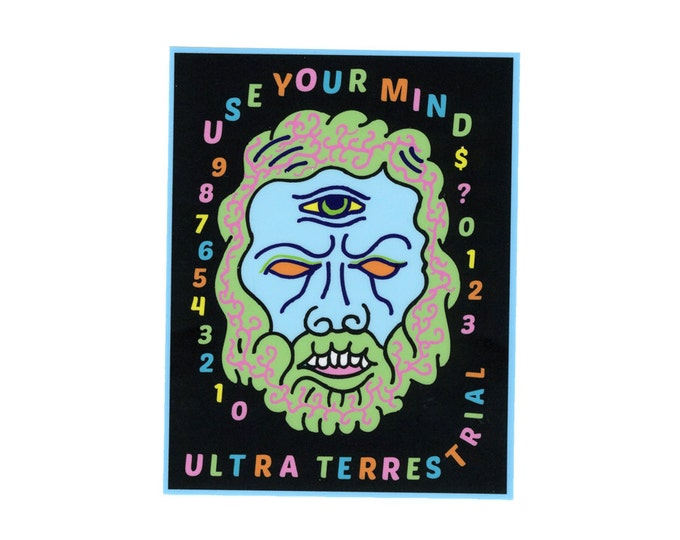 Use Your Mind Cyclops weatherproof sticker