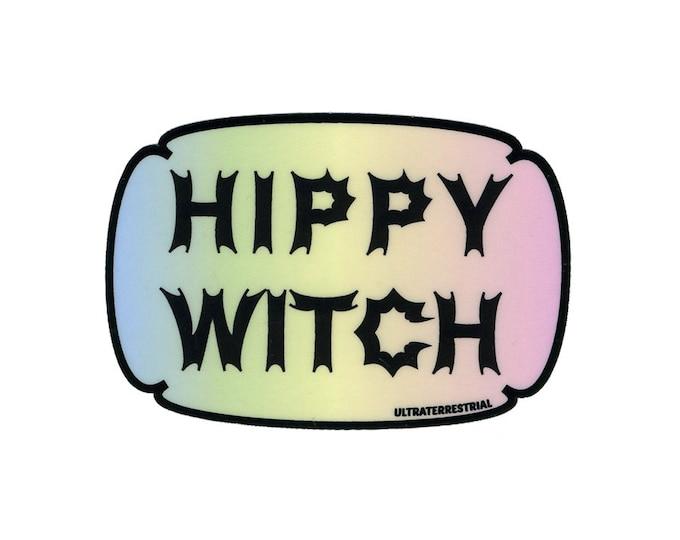 Hippy Witch weatherproof sticker