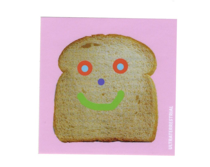 Happy Toast weatherproof sticker