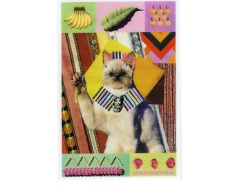 Cat King weatherproof Sticker