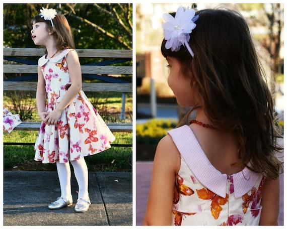 Schnittmuster für ein Mädchen Kleid Vivienne Digitales | Etsy