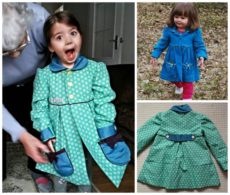 Classic Girl's Coat PDF Sewing Pattern  Video image 0