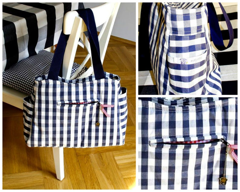 Tote PDF Sewing Pattern  The Out & About Bag Bag PDF sewing image 0