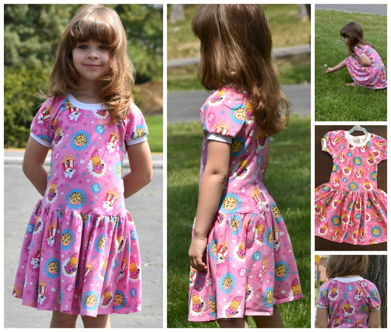 Girls Dress Bundle PDF Sewing Patterns  A Line  Raglan image 0