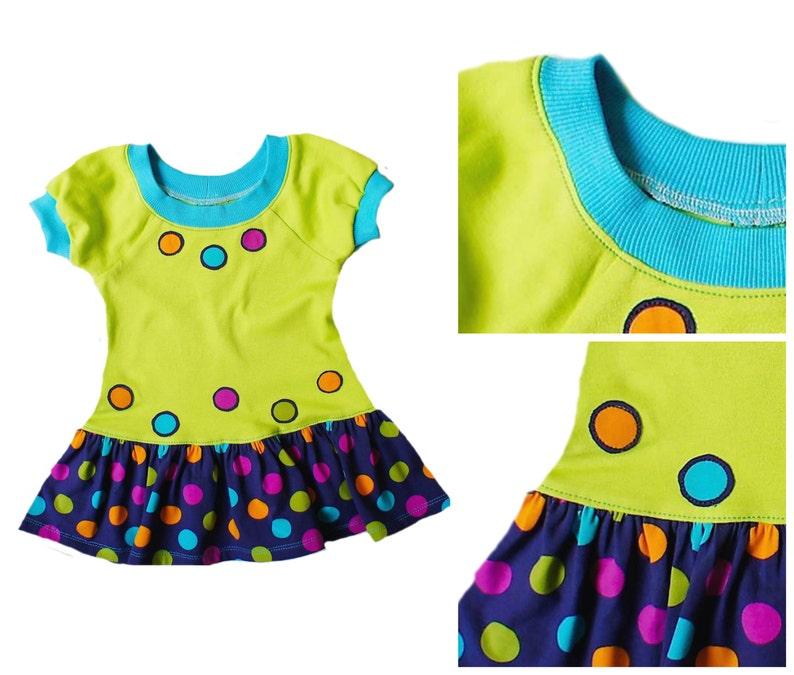 Girls Raglan Dress Pattern PDF  PDF Sewing Pattern for Girl  image 0
