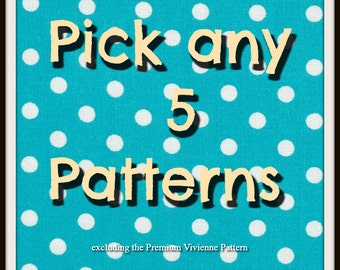 Pick any 5 patterns from Frocks & Frolics and SAVE!
