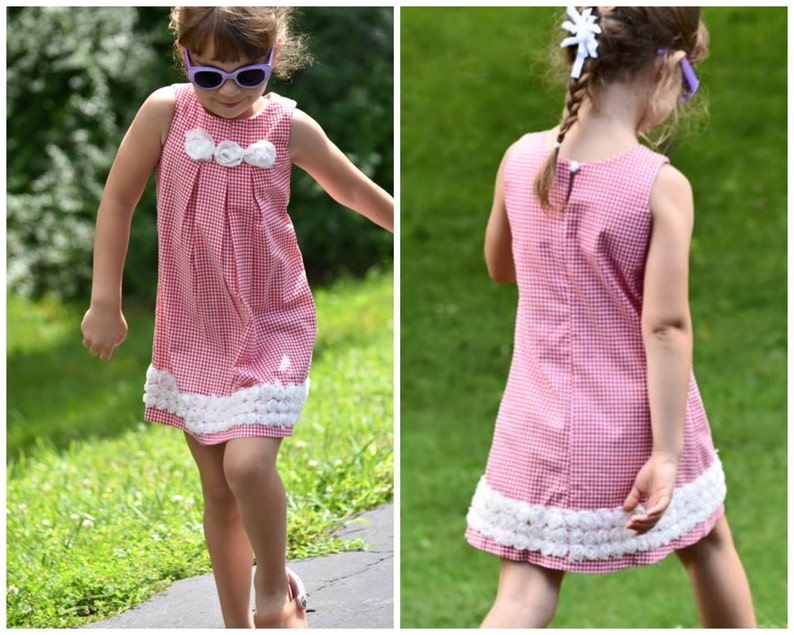 Girls Top & Dress PDF Sewing Pattern  The Lily  Ages 1-12  image 0