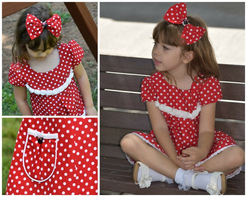Girls Dress with Sleeves PDF Sewing Pattern  The Millie  image 0