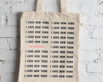 i love new york but I live in seoul tote