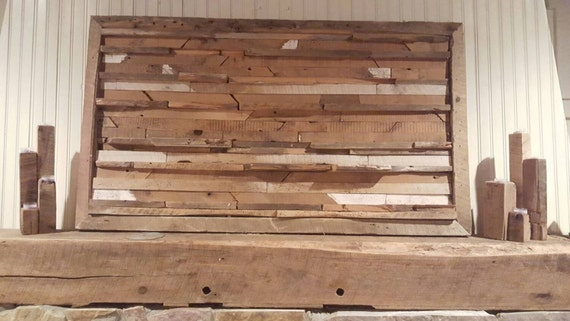 Rustic Reclaimed Raw Barnwood Abstract Wall Art