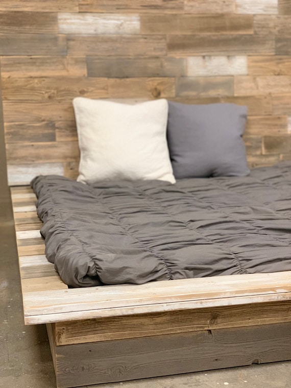 The Katie beachy industrial platform bed