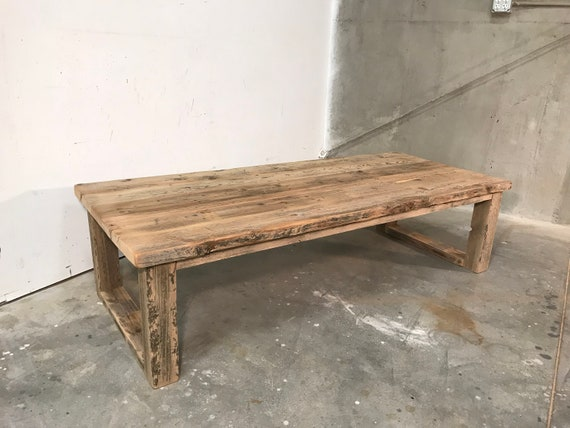 Modern rustic insustrial Cyle coffee table, reclaimed wood