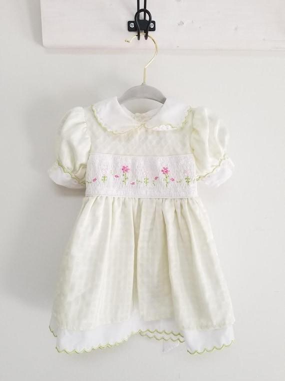 precious smock dress  -6-9 months