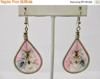 ON SALE Handmade Woven Wolf Earrings Item K # 1968