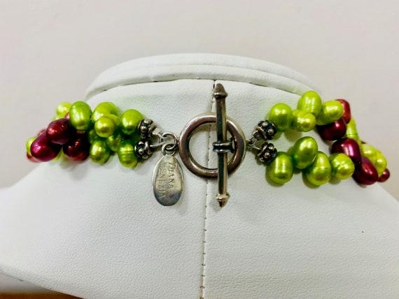 DIANA VENEZIA Dyed Pearl and Agate Multi Strand N… - image 2