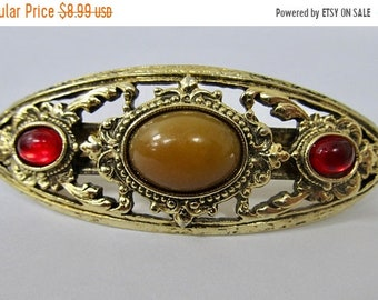 ON SALE 1928 Manufacturing Company Jeweled Hair Barrette Item K # 2584