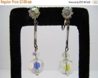 ON SALE Aurora Borealis Dangle Earrings Item K # 1053