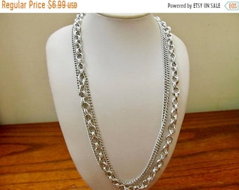 ON SALE Vintage Multi Chain Necklace Item K # 2107
