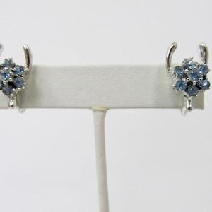 jb22-3 Wishbone Earrings Non-Pierced Screw Back Vintage Earrings Faceted Amber /& Clear Rhinestones