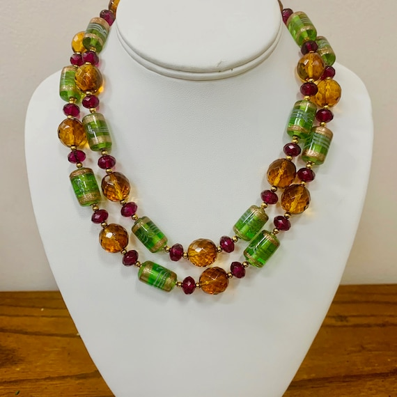 JOAN RIVERS Facetted Art Glass Beaded Necklace Ite