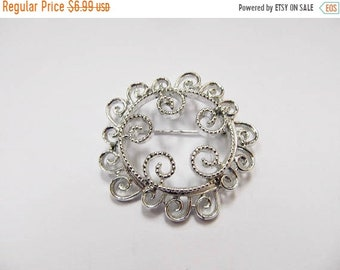 ON SALE SARAH Coventry Ornate Silver Tone Pin Item K # 1063