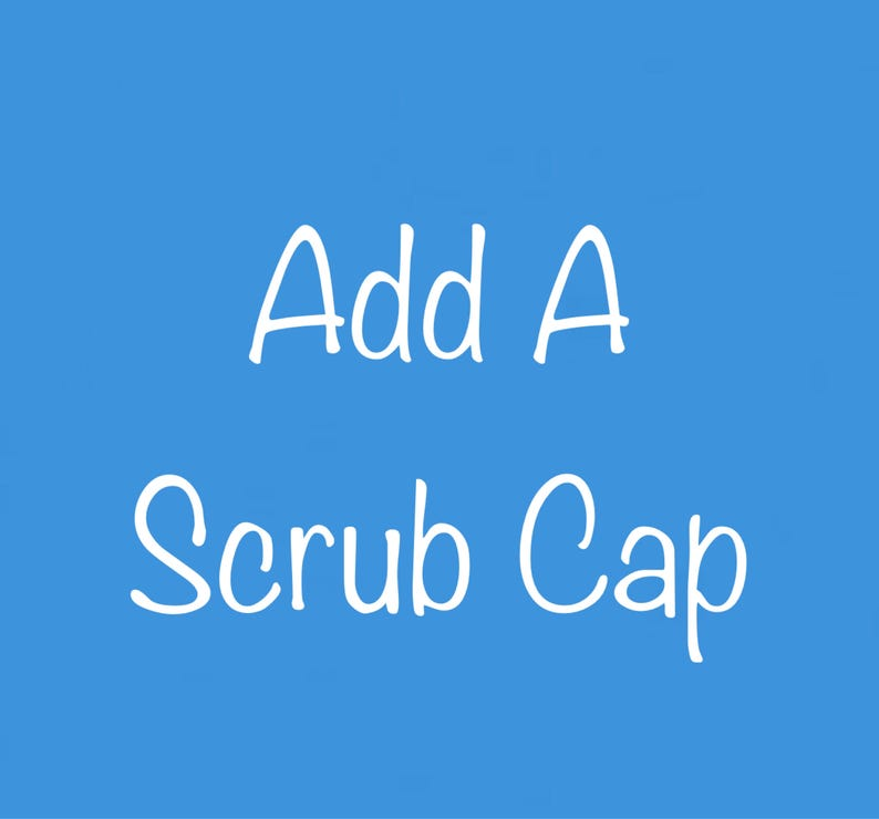 Baby or toddler Cotton Scrub Cap Solid Color image 0