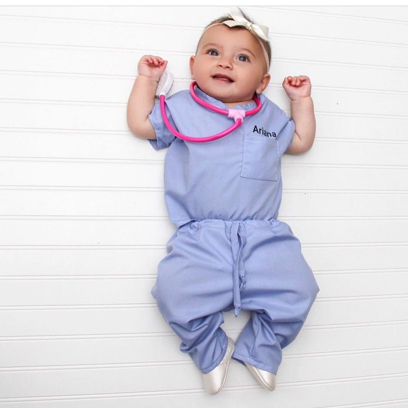 Infant Toddler Personalized scrub set stethoscope not image 0