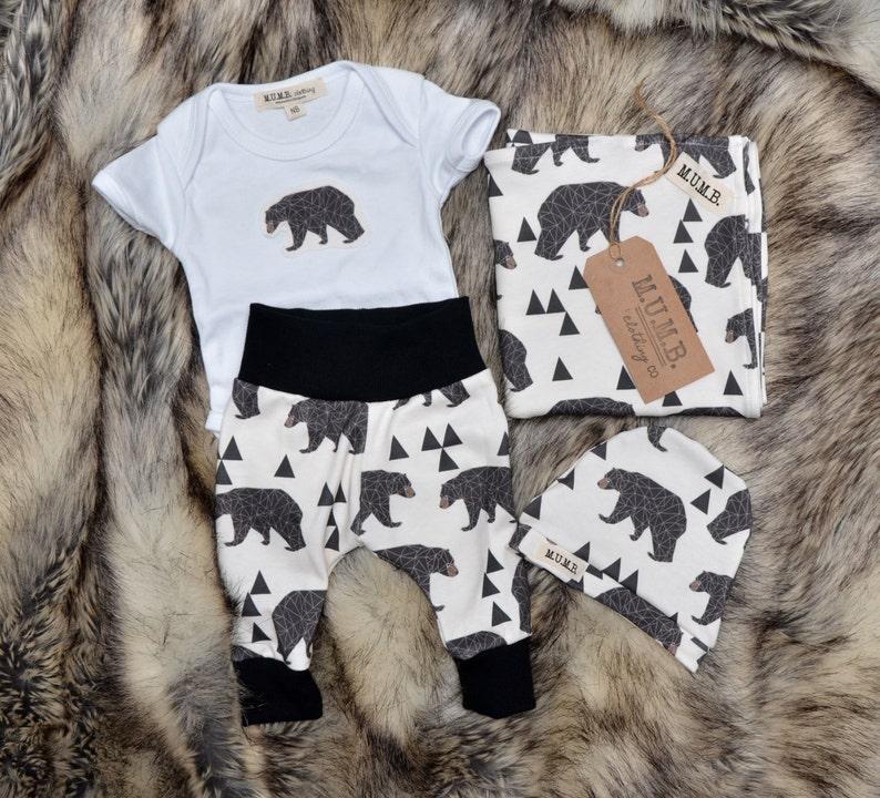 Geo bear infant set BLANKET not included image 0