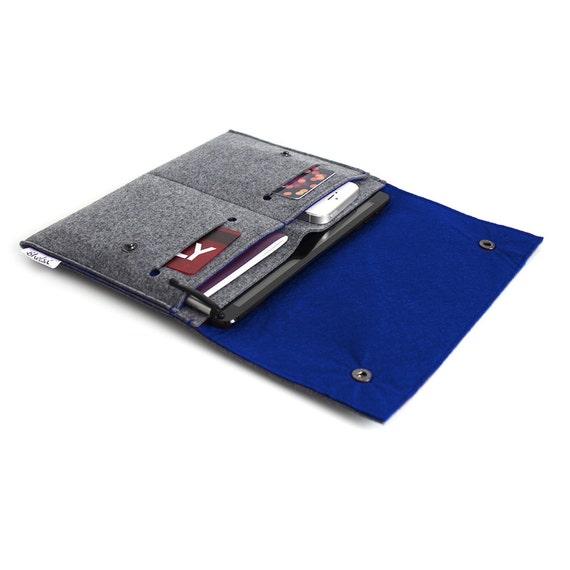 """Coque iPad Pro 10.5"""", iPad Pro 10,5 pouces organisateur, iPad Pro 12,9"""" Case, iPad 9,7"""" cas, iPad Pro manche - gris anthracite et bleu Royal"""