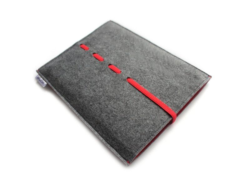 Charcoal Grey /& Red Wave Collection iPad Mini 5 Sleeve  iPad Mini 5 Sleeve Case  iPad Mini 5 Case  Sleeve Felt Case iPad Mini 5