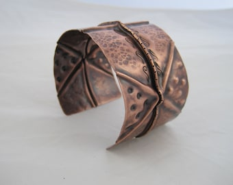 Fold Form Copper Cuff Bracelet