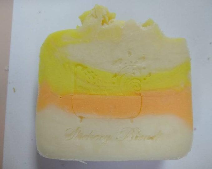 Pineapple Papaya scented bar soap, handmade,  gift soap, holiday gift,  stocking stuffer, birthday gift, housewarming gift