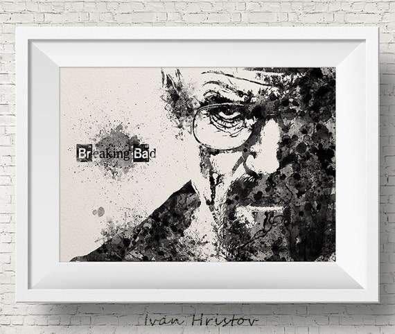 Walter White Mr White Heisenberg Breaking Bad Watercolor Art | Etsy