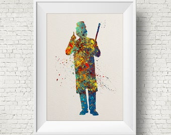 Willy Wonka, art print, illustration, Movie, Charlie and the Chocolate Factory, Wall Art, Home Decor