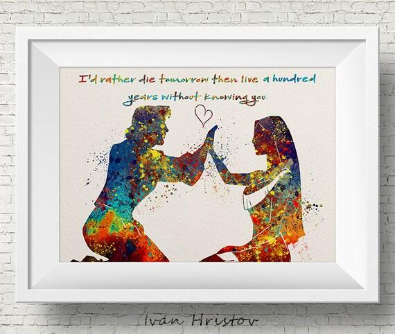 Pocahontas Zitat John Smith Zitat Liebe Disney Prinzessin Aquarell Druck Archiv Fine Art Print Kindergarten Haus Dekor Wand Hängen