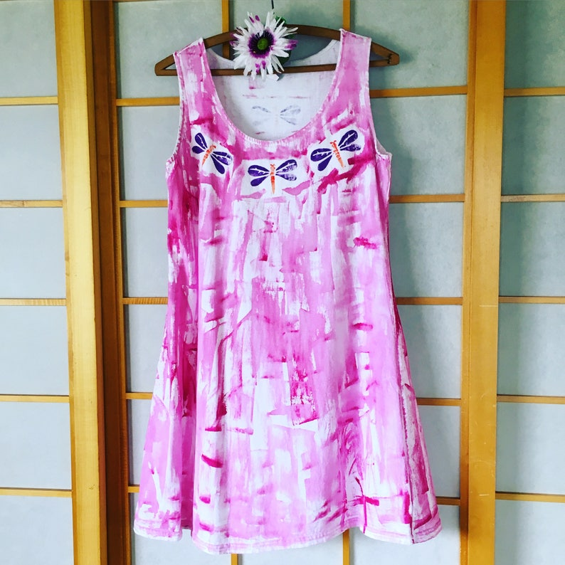44ebdffeba Cotton Beach Dress Resort Wear Plus Size Hand painted Kauai | Etsy