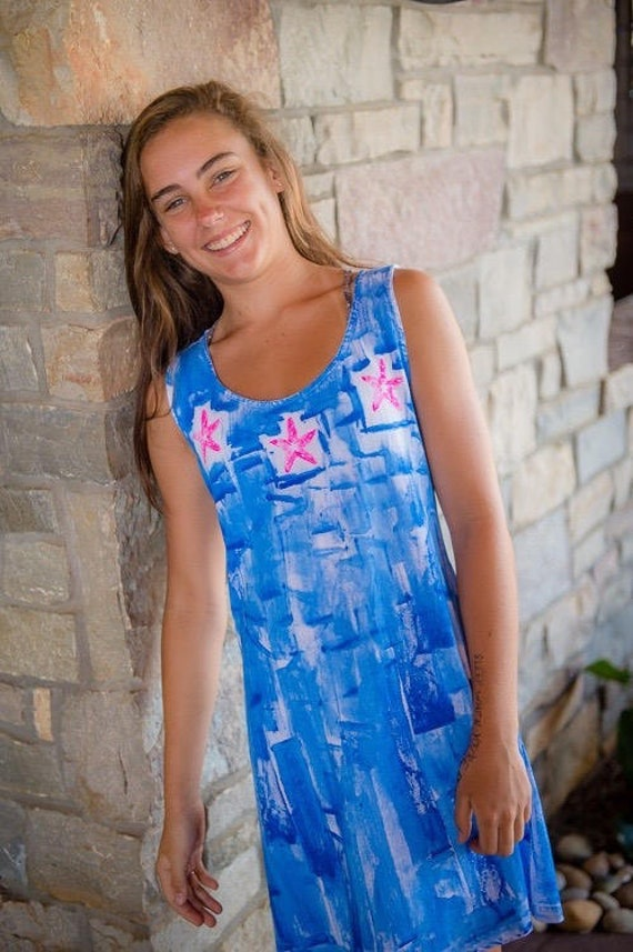 581c5dcb23d Gift for mom woman fashion hand painted dress plus size hawaii