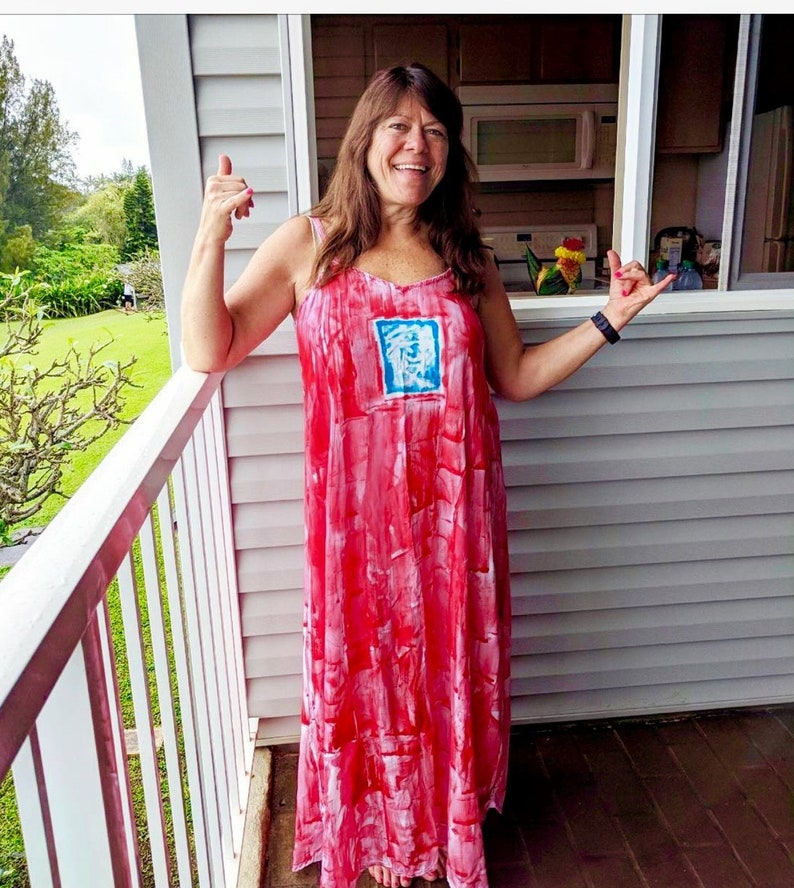 eea8a5e1a5e Hawaii Dress Maxi Dress Hand Painted Maxi Plus Size Beach