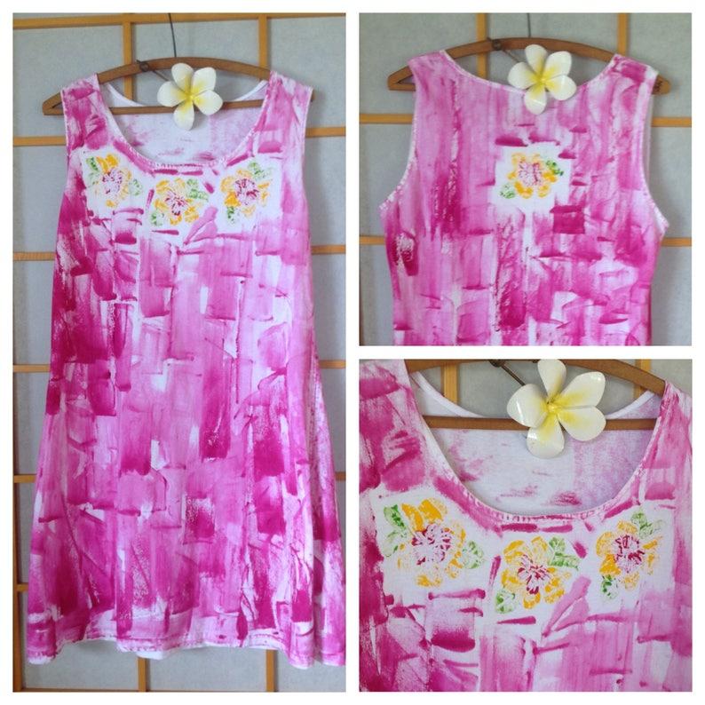 6a9569ba4d Kauai Hand Painted Dress Plus Size Resort Wear Hawaii Dress | Etsy
