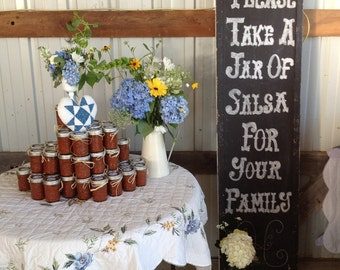 Salsa or Jelly Wedding/Event Favors