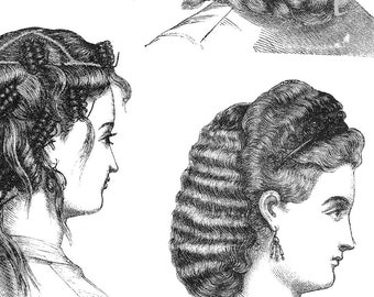 Hairstyle Sketch Etsy