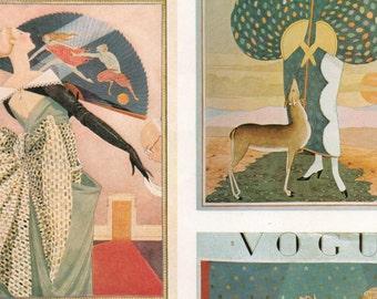 1924 Vogue Digital Avant Garde Fashion Statement Illustrations Printable Collage Sheet Download Opera Haute Couture 20s Art Deco Print Set 3