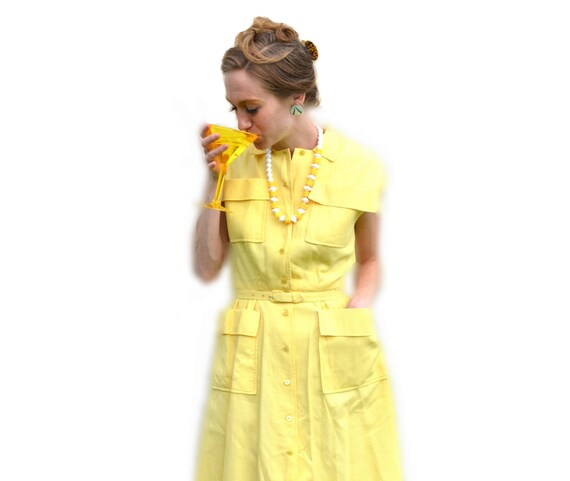 1940s Daffodil Day Dress Vintage Mid Century 40s 5